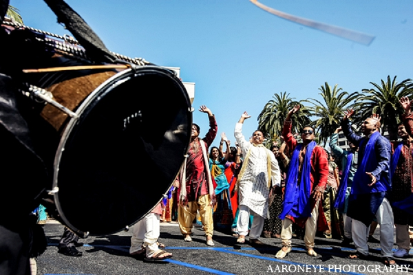 Indian wedding baraat photography dhol in Newport Beach, California Indian Wedding by Aaroneye Photography