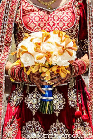 Indian wedding bridal fashion bouquet in Newport Beach, California Indian Wedding by Aaroneye Photography