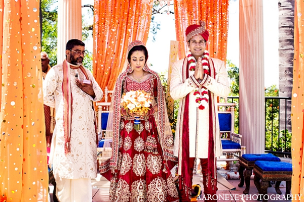 Indian wedding bride groom ceremony in Newport Beach, California Indian Wedding by Aaroneye Photography