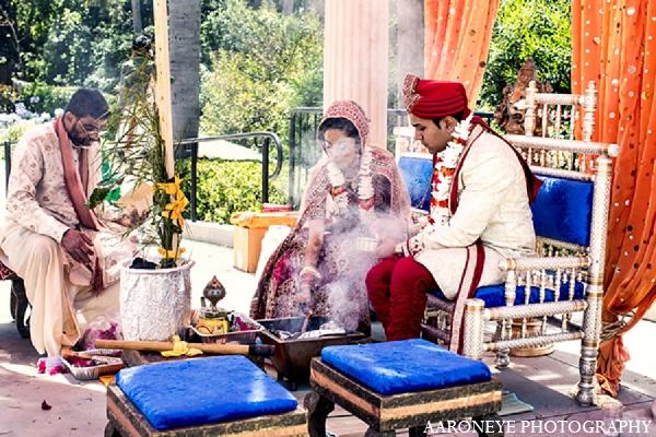 Indian wedding bride groom tradition in Newport Beach, California Indian Wedding by Aaroneye Photography