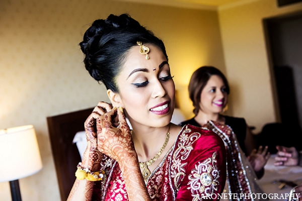 Indian wedding bride makeup hair in Newport Beach, California Indian Wedding by Aaroneye Photography