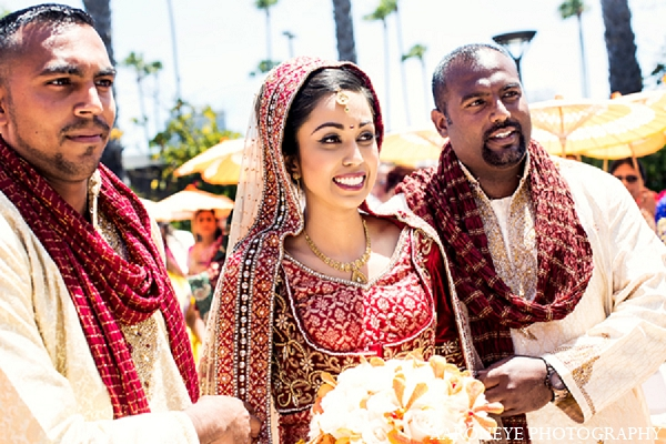 Indian wedding ceremony bride family in Newport Beach, California Indian Wedding by Aaroneye Photography