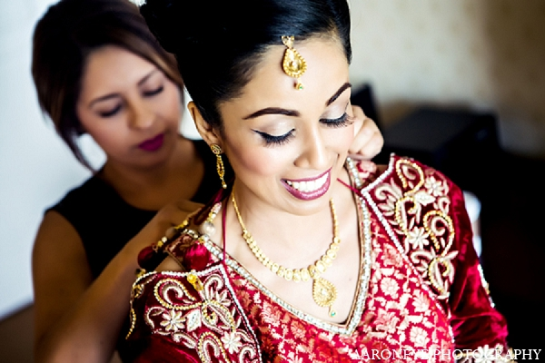 Indian wedding ceremony bride makeup in Newport Beach, California Indian Wedding by Aaroneye Photography