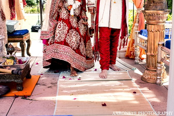 Indian wedding customs bride groom in Newport Beach, California Indian Wedding by Aaroneye Photography