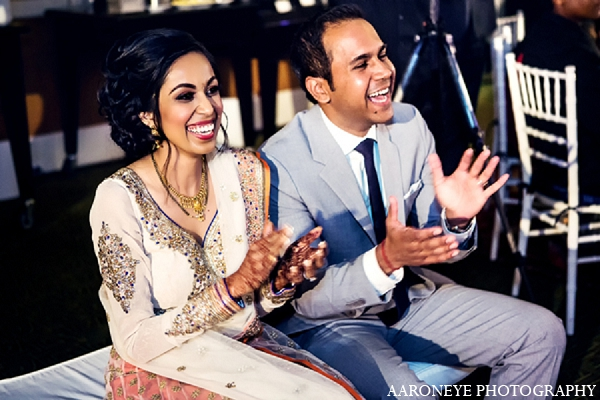 Indian wedding groom reception bride in Newport Beach, California Indian Wedding by Aaroneye Photography