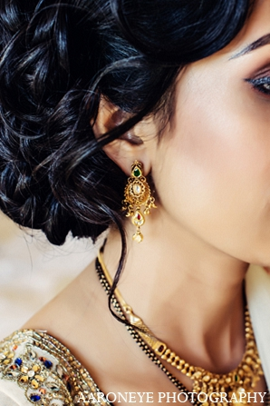 Indian wedding makeup reception jewelry in Newport Beach, California Indian Wedding by Aaroneye Photography