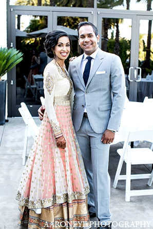 Indian wedding portraits groom bride in Newport Beach, California Indian Wedding by Aaroneye Photography