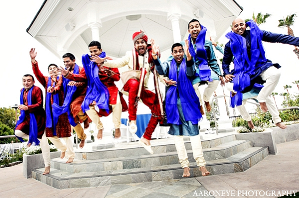 Indian wedding portraits groom groomsmen in Newport Beach, California Indian Wedding by Aaroneye Photography