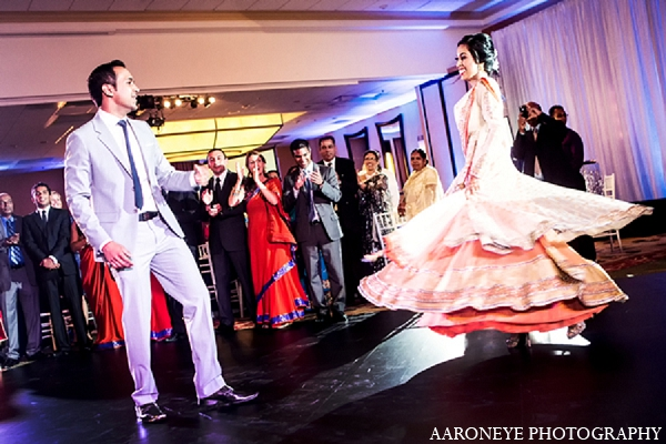 Indian wedding reception groom bride in Newport Beach, California Indian Wedding by Aaroneye Photography