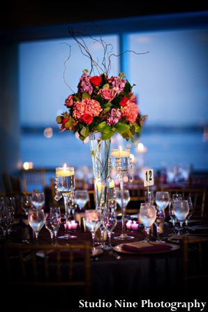 Indianweddingtablereceptionideafloral