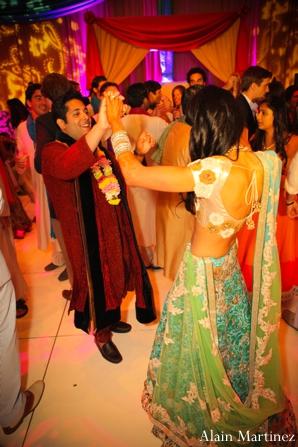 Indian wedding sangeet party celebration