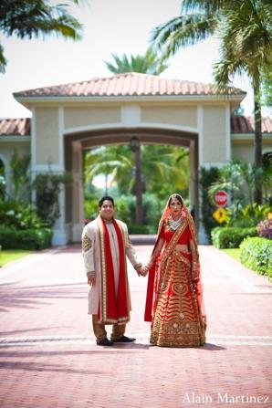 Indian wedding bride groom portrait traditional