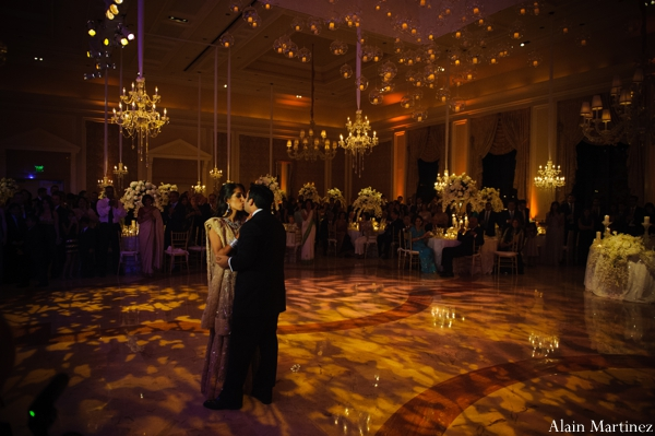 Indian wedding reception dance floor lighting