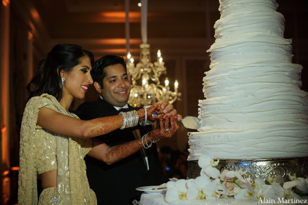 Indian wedding reception cake traditional