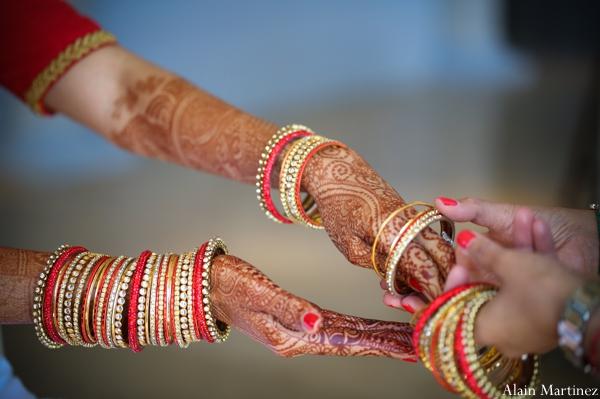 Indian wedding bridal henna bangles
