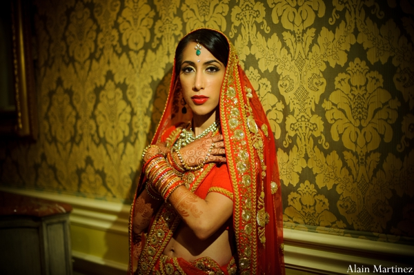 Indian wedding bridal portrait traditional ceremony lengha