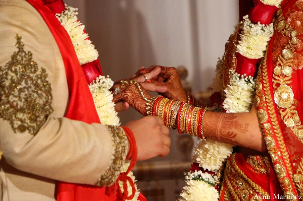 Indian wedding bride groom ceremony lengha