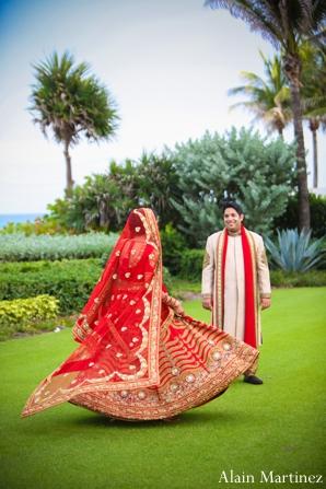 Indian wedding bride groom couple portraits