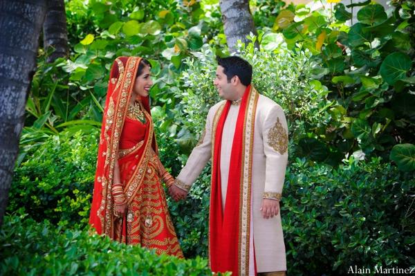 Indian wedding bride groom lengha sherwani