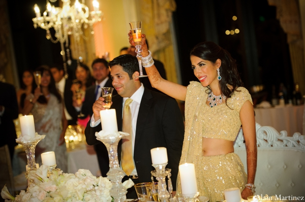 Indian wedding bride groom lighting