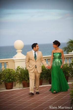Indian wedding bride groom portrait outdoors