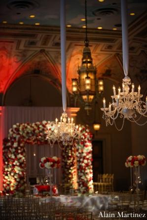 Indian wedding ceremony floral decor mandap