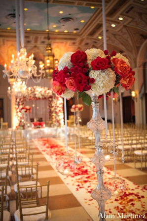 Indian wedding ceremony floral decor