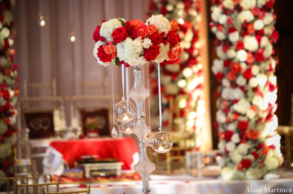 Indian wedding ceremony floral roses decor