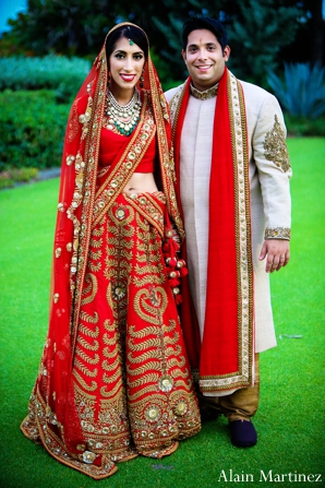 Indian wedding first look portraits traditional ceremony dress