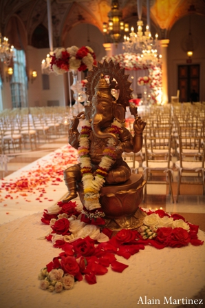 Indian wedding ganesha statue elephant floral