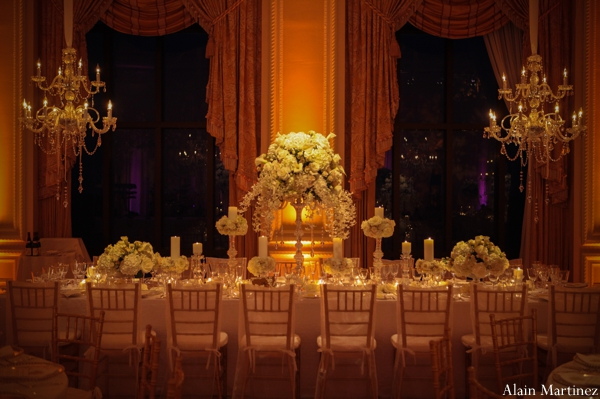 Indian wedding lighting banquet floral venue
