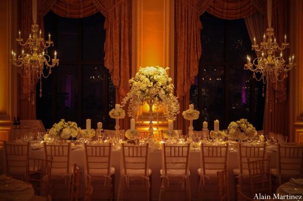 Indian wedding lighting banquet floral venue