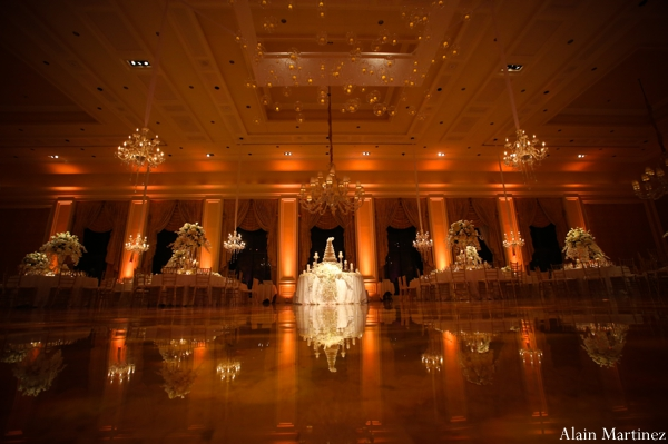 Indian wedding lighting reception decor