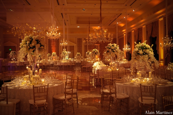 Indian wedding lighting reception venue floral
