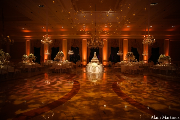 Indian wedding lighting reception venue