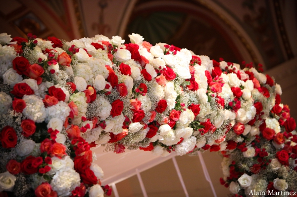 Indian wedding mandap floral roses