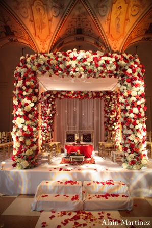 Indian wedding mandap floral