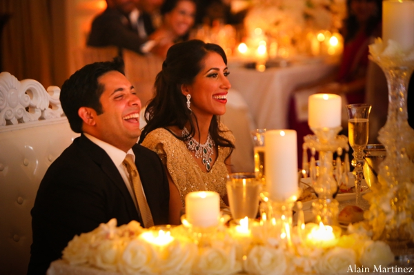 Indian wedding reception candle lighting