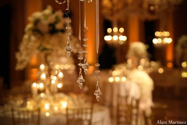 Indian wedding reception lighting venue