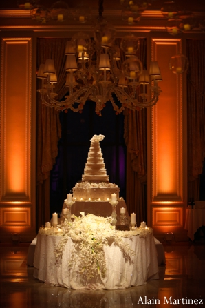 Indian wedding reception venue lighting