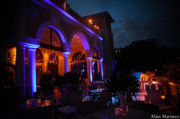 Indian wedding venue lighting