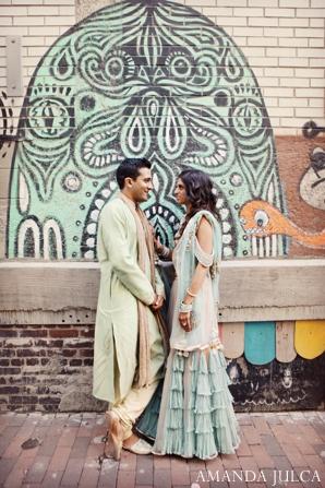 Indian wedding bride groom sangeet portraits in Columbus, Ohio Indian Wedding by Amanda Julca