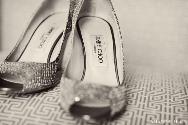 Indian wedding bridal shoes silver in Columbus, Ohio Indian Wedding by Amanda Julca