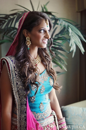 Indian wedding bridal traditional portrait lengha in Columbus, Ohio Indian Wedding by Amanda Julca