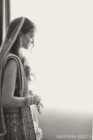white,black,portraits,indian wedding portrait,bridal portrait,bridal jewelry,indian bridal jewelry,black and white photography,hair and makeup inspiration,indian bridal lengha,AMANDA JULCA