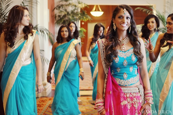 Indian wedding bride bridal party in Columbus, Ohio Indian Wedding by Amanda Julca