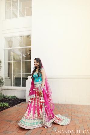Indian wedding bridal portrait lengha in Columbus, Ohio Indian Wedding by Amanda Julca