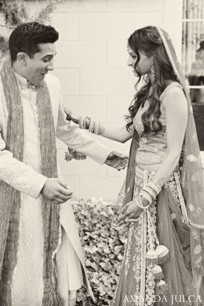 Indian wedding bride groom couple portrait in Columbus, Ohio Indian Wedding by Amanda Julca
