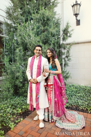 Indian wedding bride groom couple portrait in Columbus, Ohio Indian Wedding by Amanda Julca