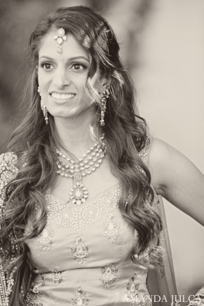Indian bridal portrait traditional black and white in Columbus, Ohio Indian Wedding by Amanda Julca
